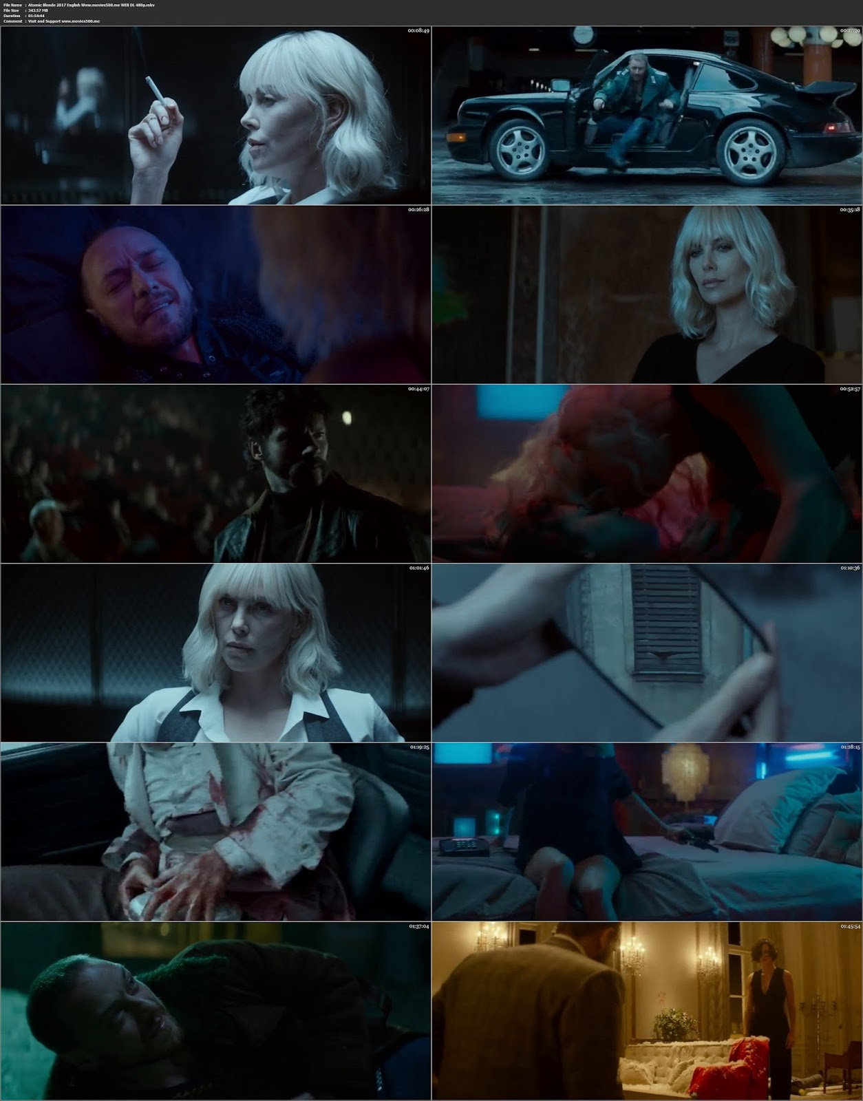 Atomic Blonde 2017 Hollywood 300MB WEB HD 480p at movies500.site