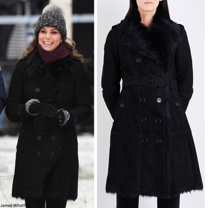 ... British and Swedish brands. Kate s coat is the Burberry Toddingwall  Shearling Trench Coat. (with thanks to Heaven and Middleton Maven for the  swift ID). 800d9cba2f20
