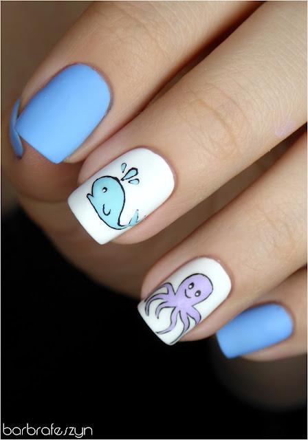 śliczne wakacyjne paznokcie