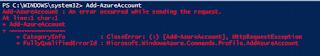 11.Microsoft Azure Powershell-Error