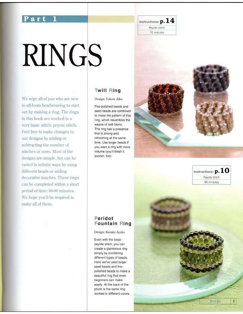 anillos, sortijas, mostacillas, bisutería, manualidades, diys