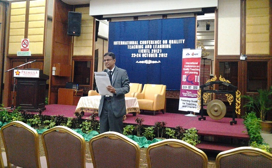 At the International Conference on Quality Teaching and Learning-2012, Malaysia