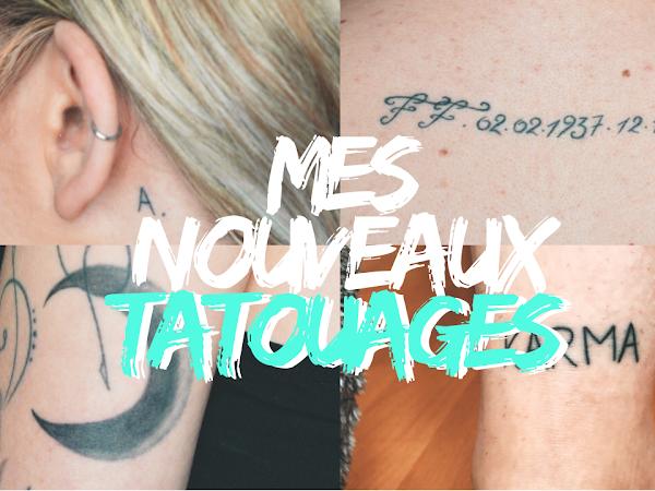 Mes Nouveaux Tatouages !