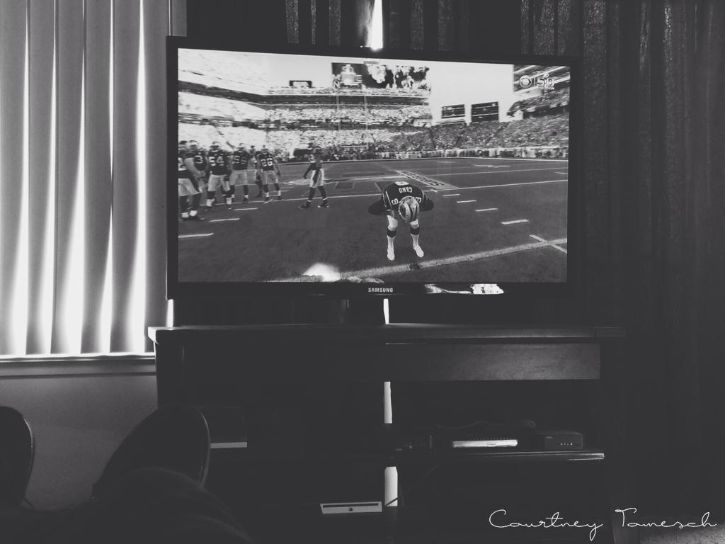 Courtney Tomesch Super Bowl Sunday