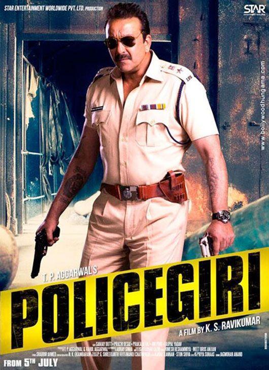 """Sanjay Dutt Latest Film """" Policegiri """" First Look Posters ..."""