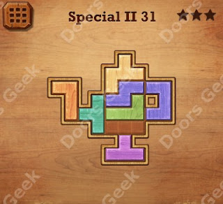 Cheats, Solutions, Walkthrough for Wood Block Puzzle Special II Level 31