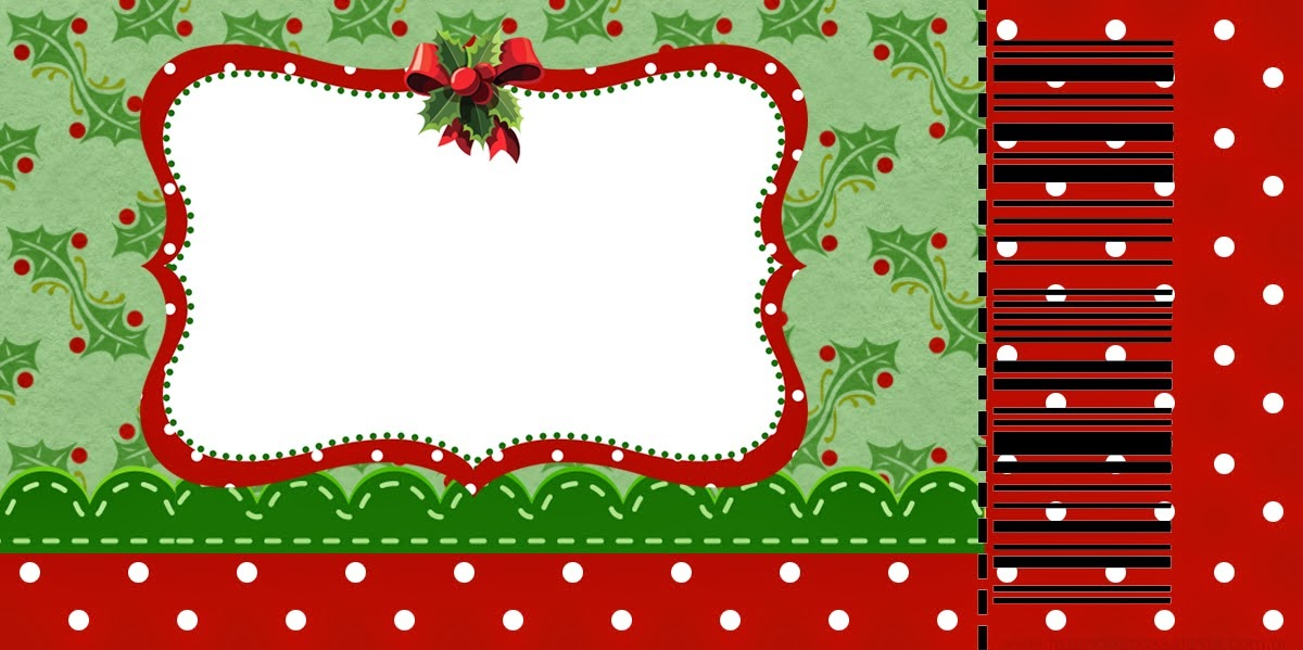 Charming Christmas Free Printable Invitations or Cards Oh My