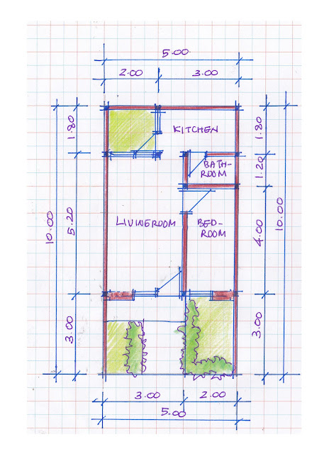 layout of house plan A-10b