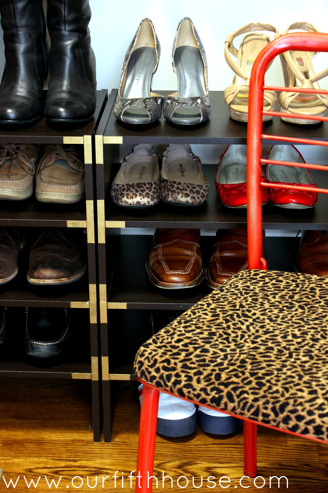 Diy Shoe Rack Amp Campaign Style Shoe Shelves Our Fifth House