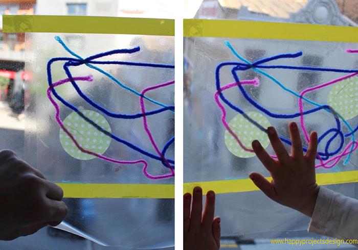Collage: cuadros transparentes
