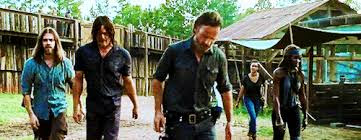 The Walking Dead Daryl, Rick Grimmes, Magguie Rhee, Michone