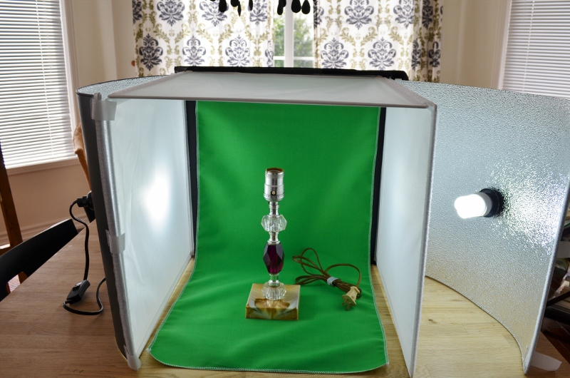 Woman In Real Life Photo Studio In A Box