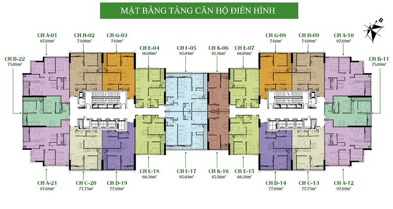 mặt bằng Eco Dream City