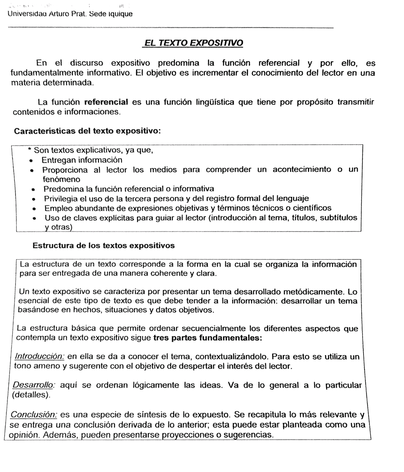 Taller De Producción De Discurso Unidad 02 Texto Expositivo