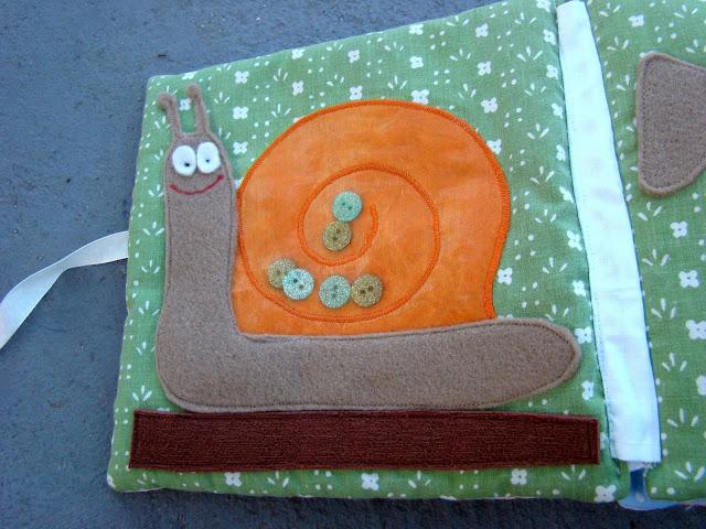 książeczka sensoryczna ślimak