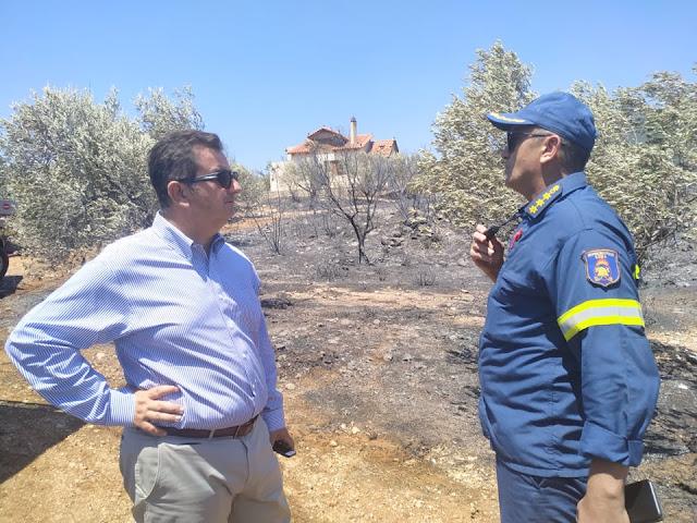 Συγχαρητήρια Μαλτέζου σε όσους συνεργάστηκαν για την κατασβεση της φωτιάς στο Κολιάκι Επιδαύρου