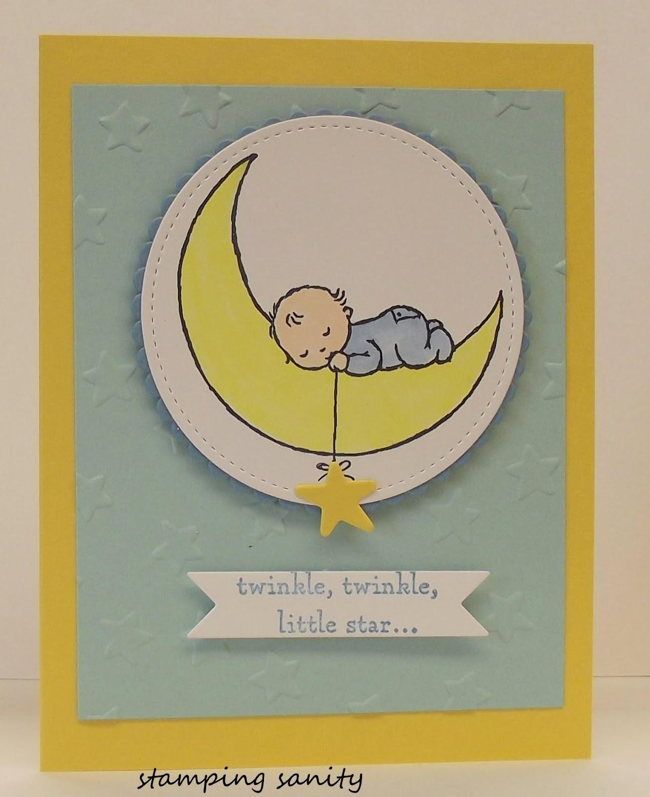 stamping sanity: Moon Baby