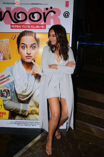 Actress Sonakshi Sinha Stills At Noor Movie Trailer Launch