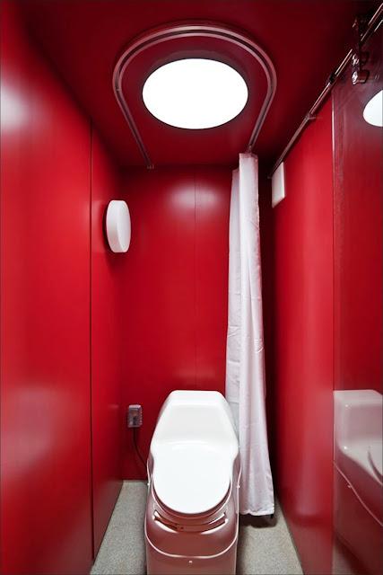 banheiro Casa de hospedagem container reciclado