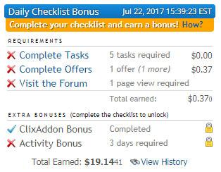 Bonus Diario Clixsense