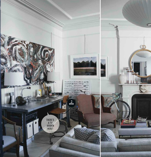 Apartment Living Room Manly: Peonies + Brass: Small Space Design: Manly Man Styles