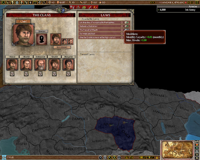 Government screenshot | Europa Universalis: Rome