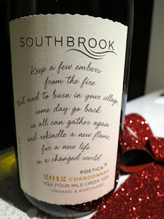 """Keep a Few Embers From the Fire"" - Southbrook Poetica Chardonnay 2012"