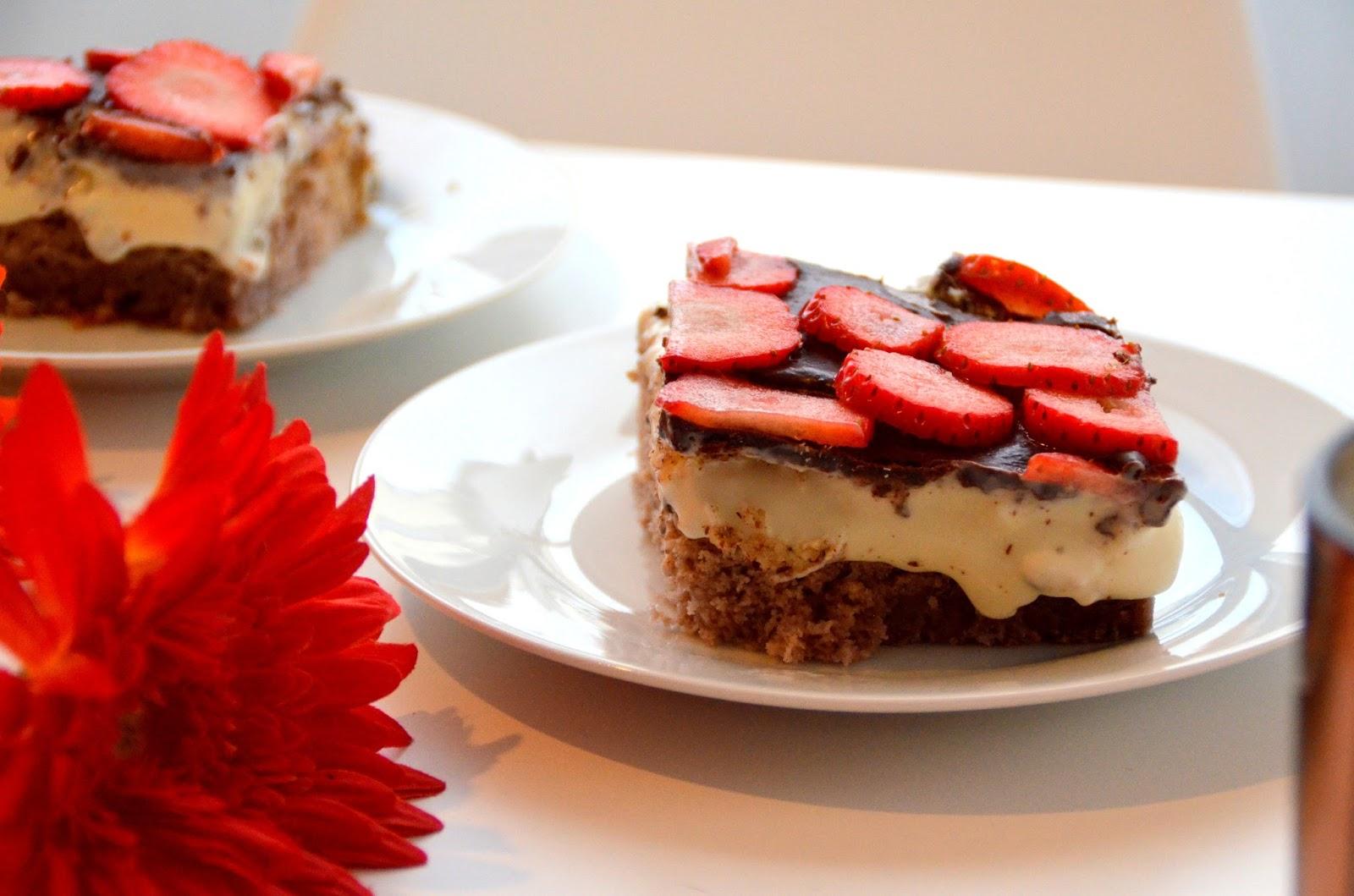 Himmlischer Erdbeer Pudding Kuchen Thermomix Anyarich