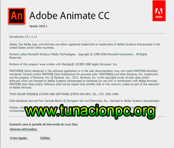 Adobe Animate CC 2015 para windows y macos