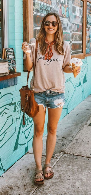 visual casual short jeans