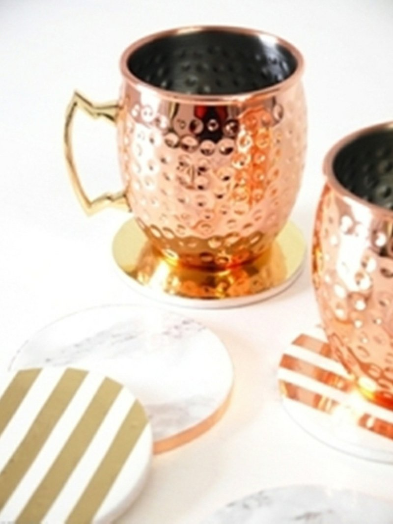 DIY Metallic Foil Coasters