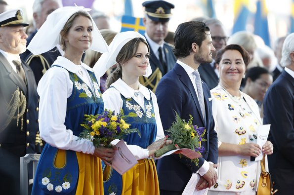 Crown Princess Victoria, Prince Daniel, Princess Estelle, Prince Carl Philip, Princess Sofia and Princess Madeleine