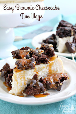 Be ready for holiday entertaining & unexpected guests quick with this no-fuss, yet impressive Easy Brownie Cheesecake Two Ways.