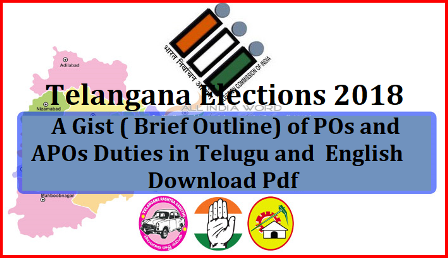 A Gist ( Brief Outline) of POs and APOs Duties in Telugu and English Responsibilities of the Presiding Officer POs and APOs on the day of polling, before the day of polling and after Polling | A Gist (Brief Outline) of PO Duties | A Gist ( Brief Outline) of POs and APOs Duties in Telugu and English | A Gist (Brief Outline) of PO Duties in English |Suggestions to POs in Telugu |POs and APOs Brief Outline Training Module |How to connect CU,BU and VVPAT Postal Ballot Instructions | Postal Ballot and Election Duty Certificate ppt | Instructions on use of EVMs |Check List of Presiding Officer | Important Forms used During Polling Day/2018/11/a-gist-brief-outline-of-polling-presiding-officers-pos-and-apos-duties-in-telugu-and-english.html