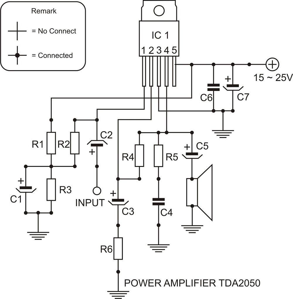 Layout Tda 2050 Circuit Diagram Images - Classycloud co