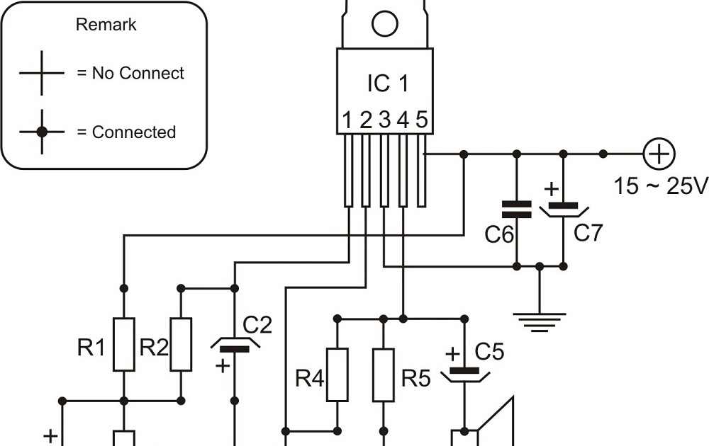 elektronika enginering: Power Amplifier TDA2050 Schematic