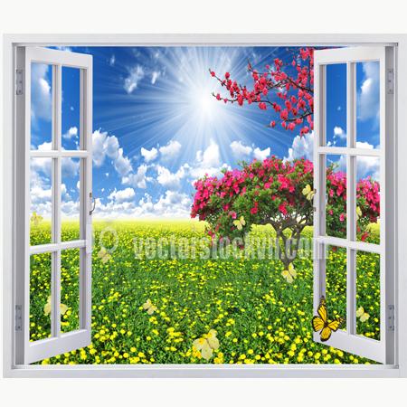 Tranh Phong cảnh vườn hoa