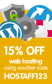 15% off .com domains with code HOSTAFF123