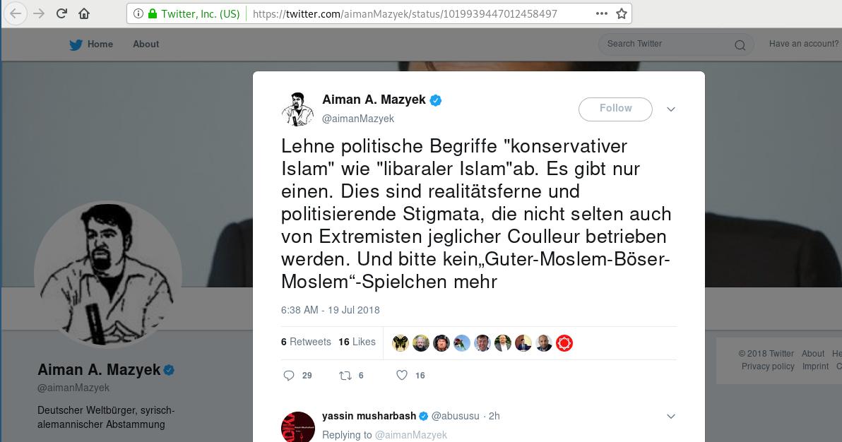 blog von gudrun eussner  aiman mazyek  es gibt nur einen islam