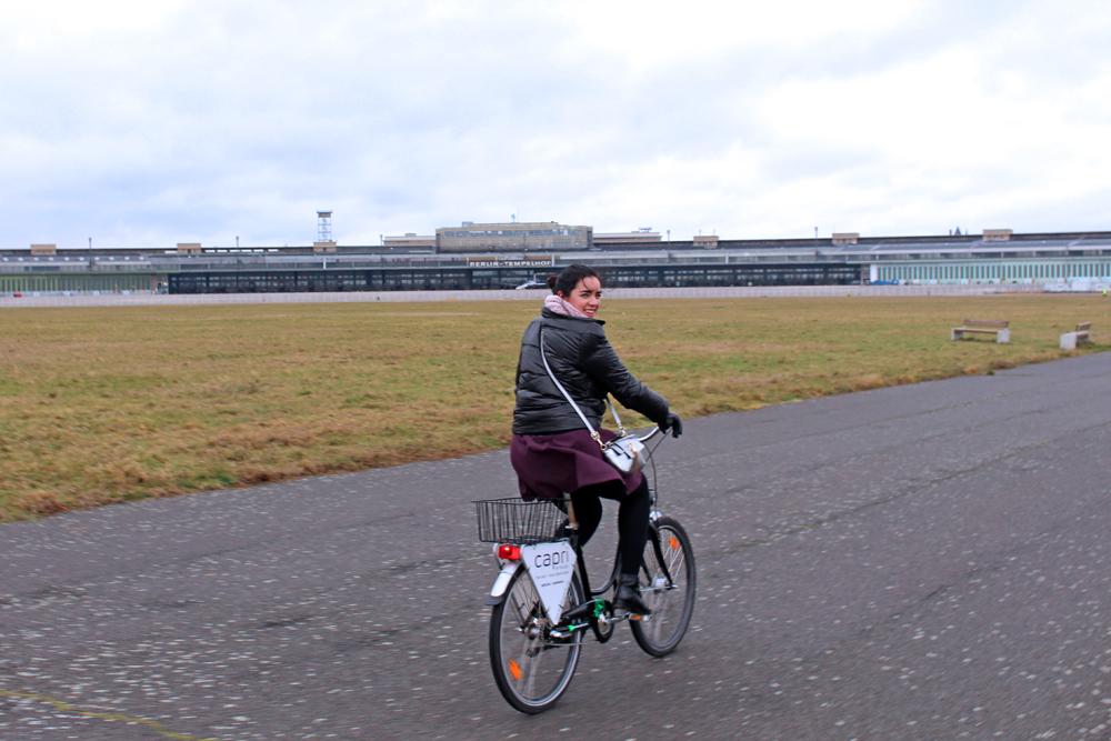 Cycling on the Berlin Tempelhof Airport runway in Berlin - travel & lifestyle blog