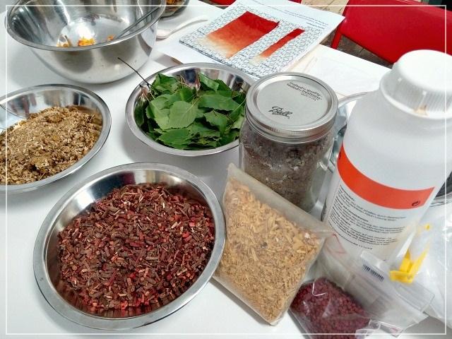 Puppilalla, dyeing fabrics, botanicals, organic, dye baths, dye plants