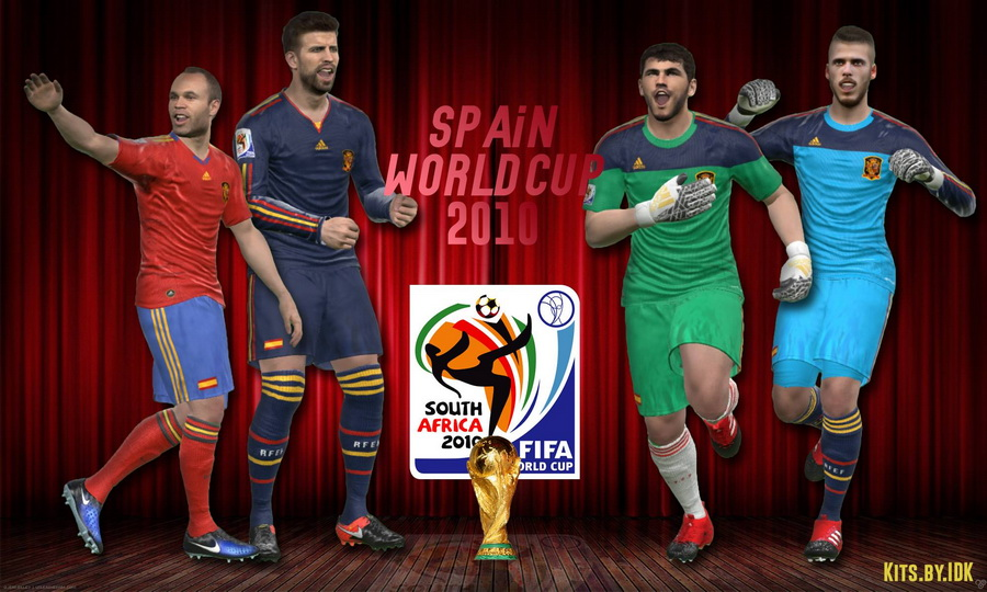 PES 2017 Spain World Cup 2010 Kits by IDK