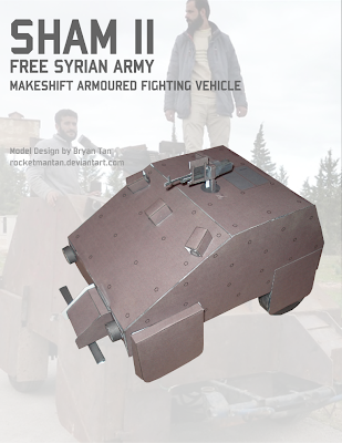 Syrian Homemade Tank Papercraft