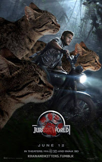 Jurassic World con gatos