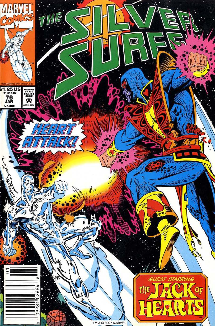 Read online Silver Surfer (1987) comic -  Issue #76 - 1