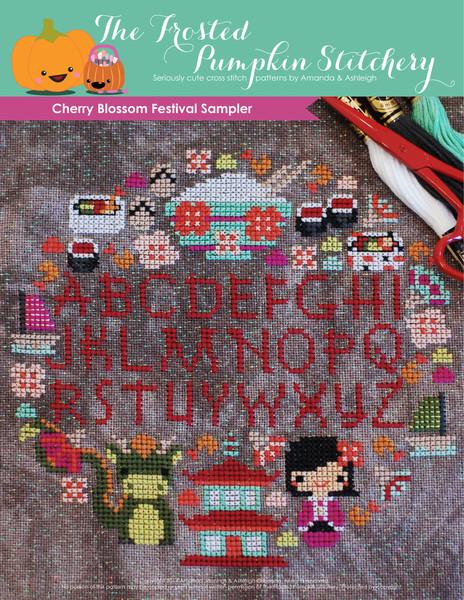 Frosted Pumpkin Stitchery - Cherry Blossom Festive Sampler