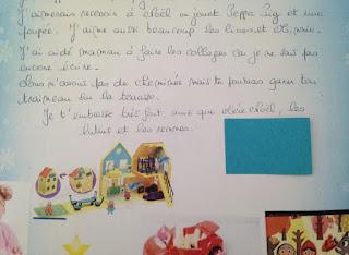 Lettre au Père Noël de Mam'zelle Nono, deux ans