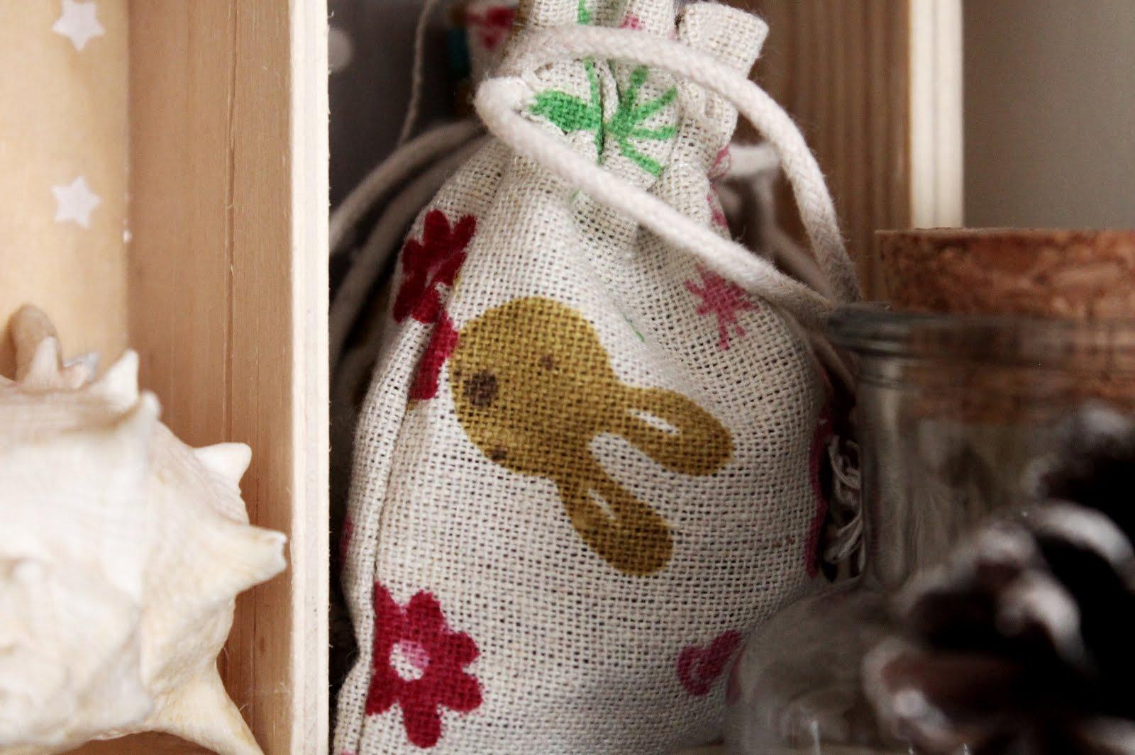 saco tela conejo