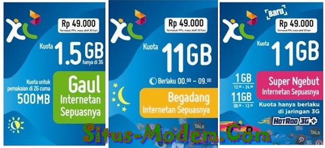 Voucher XL Khusus Paket Internet Kuota hingga 11 GB Cuma Rp 49.000, Mau ?
