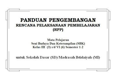 RPP Seni Budaya dan Ketrampilan (SBK) SD Kelas 3, 4, 5, 6 Semester 1 dan 2
